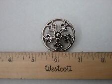 Large and Unique Vintage metalized filligri  silver 1 5/8 65L shank Button