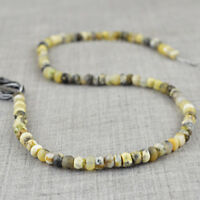 55.00 Cts / 12 Inches Earth Mined Drilled Dendrite Opal Faceted Beads Strand