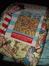 Wheres Waldo? Journey Now Picture Hunt Book Beach Art Plush Fleece Throw Blanket