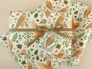Owl Eco Wrapping Paper | Woodland | Premium Quality Gift Wrap Sheet + Tag