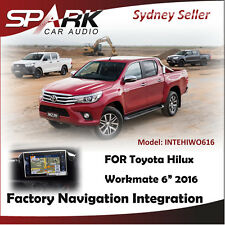 """FACTORY NAVIGATION GPS INTEGRATION SYSTEMS FOR TOYOTA HILUX WORKMATE 6"""" 2016"""