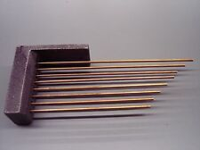 NEW TRIPLE CHIME CLOCK CHIME RODS WITH BLOCK -- movement service repair parts