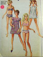 VTG 60s Swimsuit Bikini Mini Dress Cover Up FF Uncut Size 9 Jr Teen  Bust 30.5