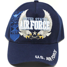 U S AIR FORCE Cap/Hat w/Flying Eagles & Insignia Blue Military Free shipping