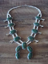 Native American Jewelry Howlite Squash Blossom Necklace by Phoebe Tolta