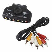 Optimal Shop-2 Way Video Audio Switch Selector Splitter 3RCA Cable For XBox DBDB