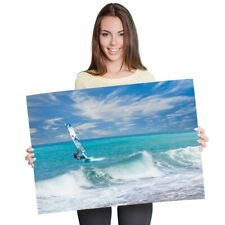 A1 - Windsurfer Surfing Waves Ocean Sea Poster 60X90cm180gsm Print #8149