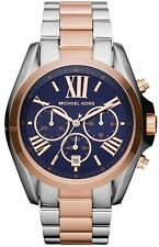Michael Kors MK5606 Two Tone Rose Gold Silver Chronograph Ladies Watch
