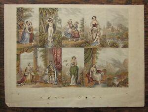 1853 Le Blond Needlebox Fancy Set Baxter Process Victoria Albert Harem Uncut