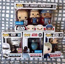 Star Wars Funko POP Vinyl Snow Gear Han Solo Tank Trooper Droid Cloud City 5 Lot