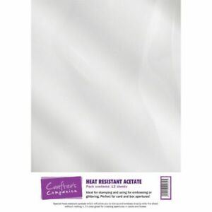Crafter's Companion Heat Resistant Acetate - 12 sheets