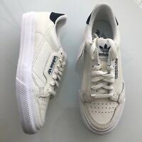 Adidas Continental 80 Vulc White Leather Blue Skate Shoes Men's NEW