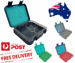 Bento Lunch Box for Kids 4 or 6 section Leakproof Blue Pink or Green BPA Free
