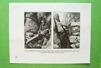 RWf) Dolomiten 1914-1918 Maschinengewehr Stellung MG Front Italien (1926) 1.WK