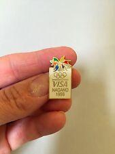 NAGANO JAPAN OLYMPICS PIN, 1998 Visa souvenir pin, Vintage olympics pin, promo