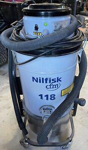 Nilfisk 118  Vacuum CSA Certified 120V Shop Vac Industrial CFM