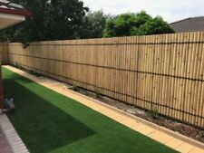 BAMBOO FENCE, FENCING PANEL - 2.0m x 0.9m - NATURAL CREAM - IN STOCK