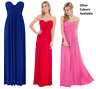 Goddess-Goddiva Long Grecian Strapless Evening Party Prom Maxi Dress Bridesmaid