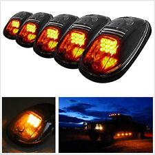 One Set 12V Truck SUV Amber LED Cab Roof Marker Running Lights Black Smoked Lens