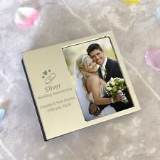 Personalised Silver 25th Wedding Anniversary Photo Frame For Album Gift Idea