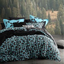 Ltd By Logan and Mason EQUINOX MINT Blue King Size Bed Doona Quilt Cover Set