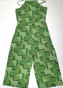 Boho Green Temt Jumpsuit Size 10/12