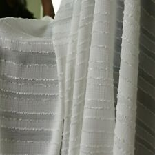 1y*140cm Cream white Jacquard Stripe Chiffon Fabric Crepe