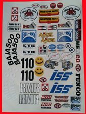 SAND SCORCHER MIXED A B C RC DECALS STICKERS WILL FIT MUST 1/10th TAMIYA KYOSHO