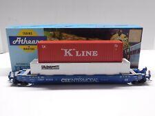HO Scale - Athearn CSX Intermodal Husky Stack Train Car w/ (2) Containers