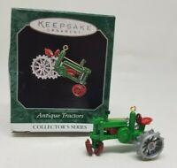 Hallmark 1998 Antique Tractors miniature 2nd in series Christmas ornament metal