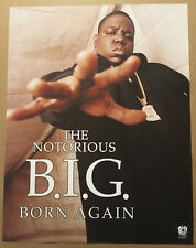 NOTORIOUS B.I.G. Rare 1999 PROMO POSTER For Born CD NEVER DISPLAYED 17x22 big