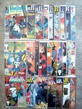 Marvel The Punisher- War Journal, War Zone, Movie & MORE Comics LOT 26 Bag/Board