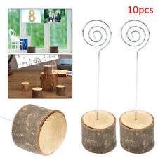 10Pcs UK Rustic Wedding Table Wood Place Number Name Card Stand Holder Decor