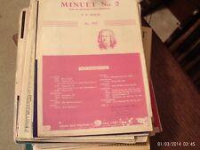 Bach: Minuet No. 2,  piano (Century)