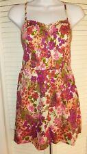 EUC I LOVE H81 Dress Jrs Floral Print Sleeveless Short Sundress Forever 21 Sz M