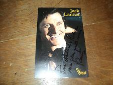 JACK LANTIER CARTE PROMO VOGUE DEDICACE+