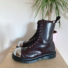 DR MARTENS GRASP OXBLOOD SMOOTH LEATHER BOOTS 7 41 EXTERNAL STEEL TOE CAP 1490
