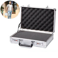 14 inch Sliver Aluminum Hard Case Textured Small Camera Equipment Case with Foam