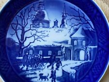 Royal Copenhagen Plate, 1995, Christmas at the Manor House, Box, Certs Included