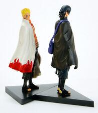 Naruto Movie The Last Uzumaki Sasuke Uchiha PVC Figure Anime Toy 2 pcs New 16cm