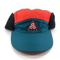 Nike NikeLab ACG Tailwind Sherpa Earflap Hat Geode Teal Bright Red AR0497-381