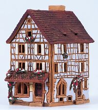 Ceramic house tea light holder 'House of Pottery in France', 12 cm, © Midene