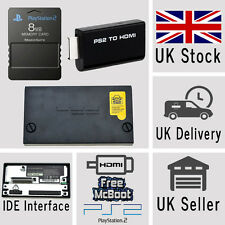 Sony Playstation 2 PS2 HDMI Adaptor 8MB McBoot Memory Card IDE Hard Drive COMBO