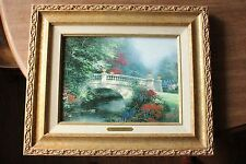 Thomas Kinkade Broadwater Bridge Thomashire/ Classics Collection Ii-1997/ Canvas