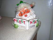 1961 Napco Santa Merry Xmas Planter ( Rare) Expression is Priceless