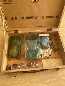 Job lot vintage slot car bodies, chassis, parts
