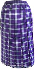 Tartan Pleated Skirt For The Older Women Ladies New Check Skirts Red Blue Green