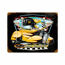 32 Super Speedster Bee Gee Roadster Scott Carter Retro Sign Blechschild Schild