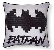 The LEGO Batman Movie Gray Black Throw Pillow 15x15 Kids Room Decor Boys Marvel