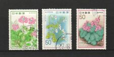 JAPAN 1978 NATURE CONSERVATION SERIES NO. 5 (PLANTS) COMP. SET OF 3 STAMPS USED
